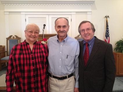 Becky, Larry, Pastor Ron