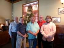 (l-r) Joe Fowler, Pastor Ron, Tim Short, John Waters, Drew McDonald