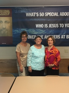 Prayer Team for Hannah Johnson (L_R) Marilyn Rogers, Susan Carter, Mary Waters Not pictured: Hannah Johnson