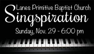 lanes PB Church - Singspiration-Nov 2015