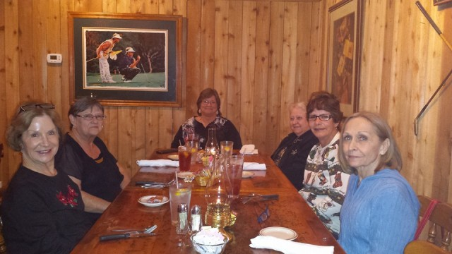 (l-r) Mary Waters, Susan Carter, Lisa Hall, Janell Squires, Marilyn Rogers, Martha Hunter Roberts